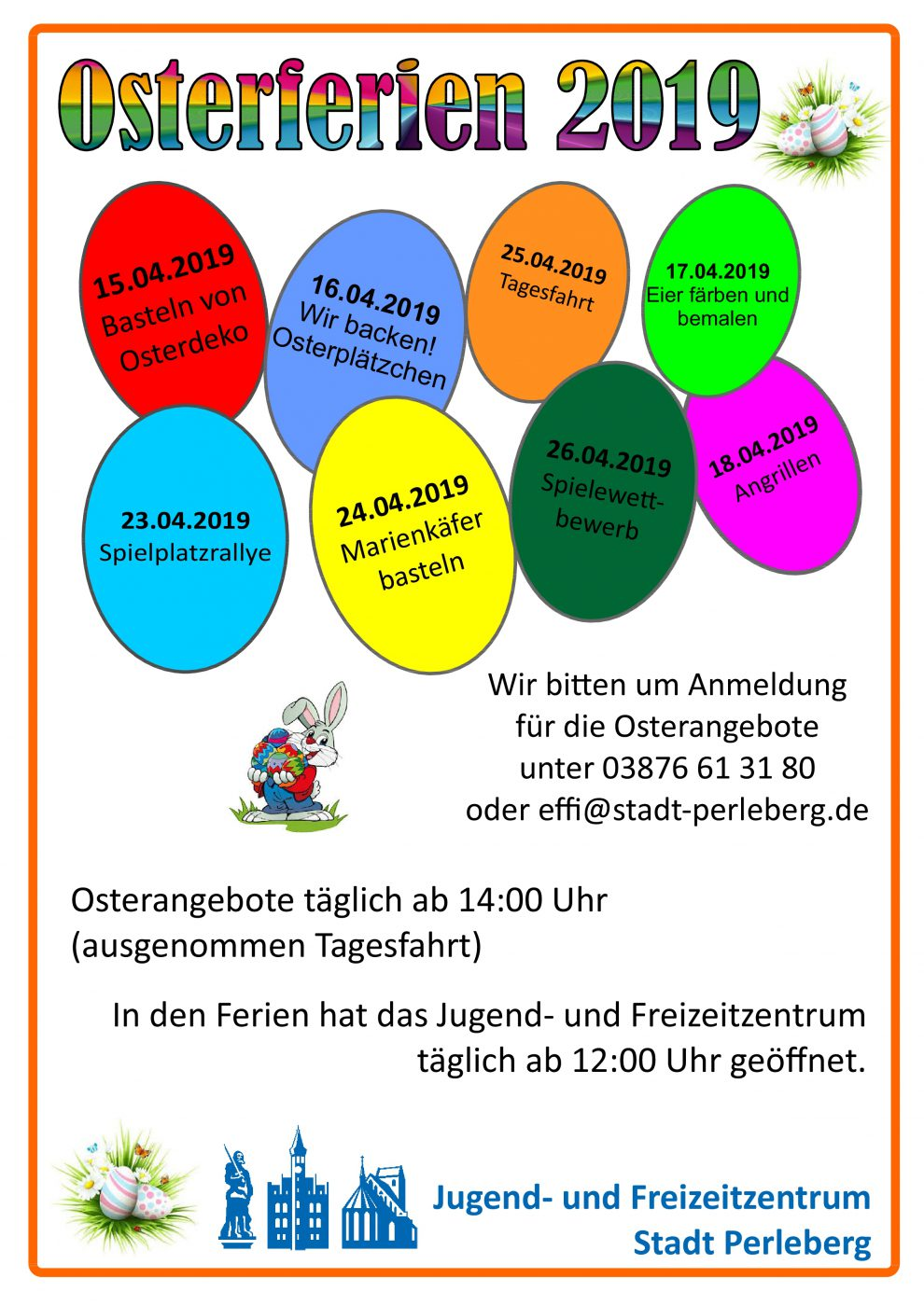 Plakat Osterferienprogramm
